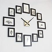 Horloge murale photo comparer les prix et offres pour horloge murale photo lionshome for Horloge murale bois moderne